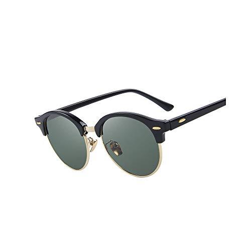 WJFDSGYG Men Rivet Polarized Sunglasses Designer Unisex Sonnenbrille Half Frame