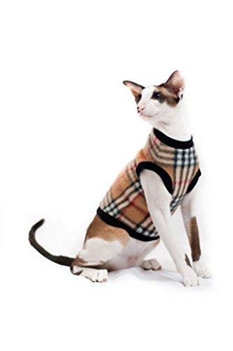 Kotomoda Katze Kleidung Warm Pullover Burberry (S)
