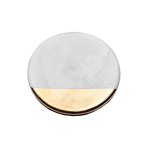 Keramik Untersetzer Nordic Style Vergoldet Tasse Matte Tisch-Sets achteckig Pad Halter rund viereckig (Beistelltisch Set Lackiert)