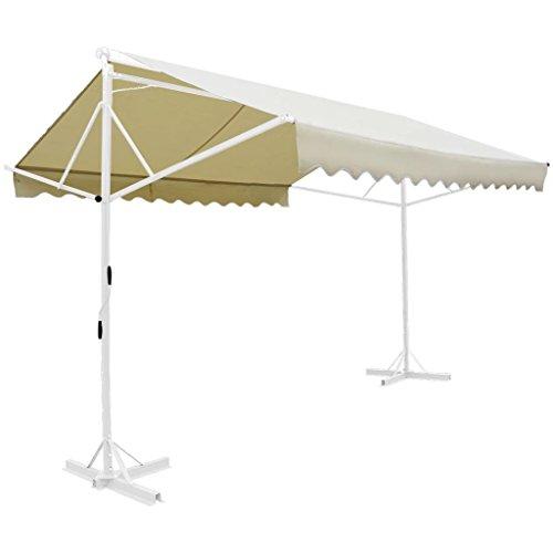 Xinglieu serina–tenda da sole stand tenda da sole da giardino tenda da sole 3x 3m visione protezione crema