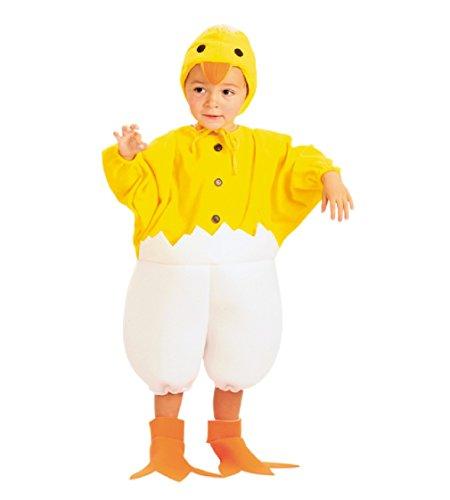 Kostüm Küken Gr. 92/104 Jungen Mädchen Overall Tierkostüm Ostern (Junge Küken)