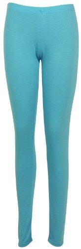 Womens New Plain Stretch Ladies Full Long Length Skinny Elasticated Waist Trousers Pants Leggings