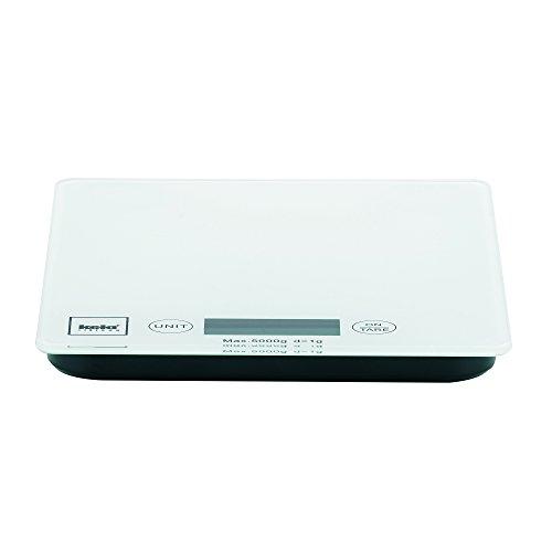 Kela 15740 Digitale Küchenwaage, Glas, 1 g-Feineinteilung, Tara-Funktion, Bis 5 kg Gewicht, Pinta, Weiß - 2