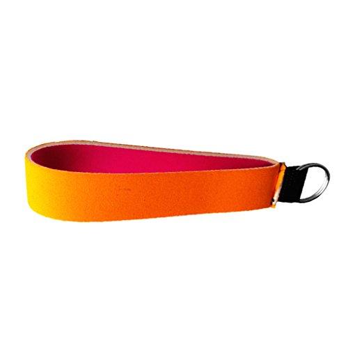 F FITYLE Neopren Schlüsselanhänger wasserdicht Handtaschenanhänger Fahrzeugschlüssel Armband Dekor Schlüsselringe für Wassersport - - Orangen Dekor