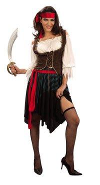 Kostüm Wench (Caribbean Wench Lady Kostüm Piratin, Größe:)