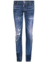 ee931cab2a711 Dsquared² Jean Slim DIRTY D, Couleur  Bleu, Taille  50
