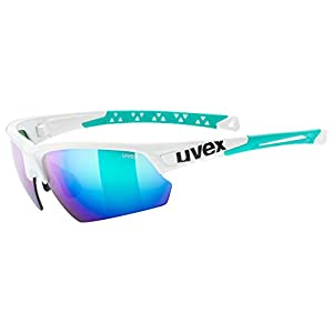 Uvex S5320077816 Glasses, White Green Mirror Green, 3