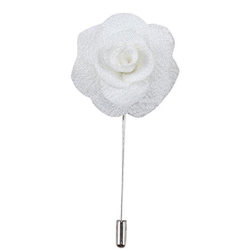 BulzEU Mens Wedding Boutonniere/Knopfloch/Corsage Revers Blumenstift Stift Stoff Handwerkliche Brosche Handgefertigte Modeschmuck für Anzug Rose Pins (M14) - Revers-stifte