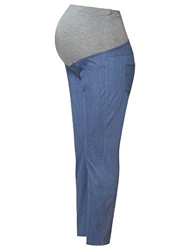 Bhome Schwangerschaftsjeans, Stretch, hohe Taille, für Arbeit, Karriere und Büro - - Klein Slim Leg Maternity Legging