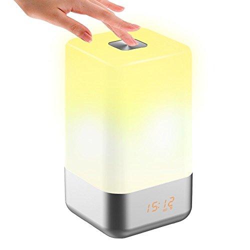Lichtwecker, Tecboss LED Wake-Up Light Aufwachen mit Licht Sonnenaufgang Simulation, 5 Naturklänge, 256 RGB Dimmable Stimmungslicht