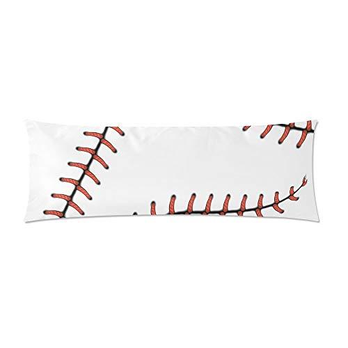 CiCiDi Seitenschläferkissen 40 x 145 cm Körperkissenbezüge Kissenbezug Softball Baseball Red Lace Custom Throw Pillows Maschinenwäsche mit Reißverschlüssen Mutterschafts- / Lange Kissenbezug -