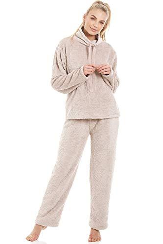 Camille Womens Ivory weiche warme Fleece-Bettjacke