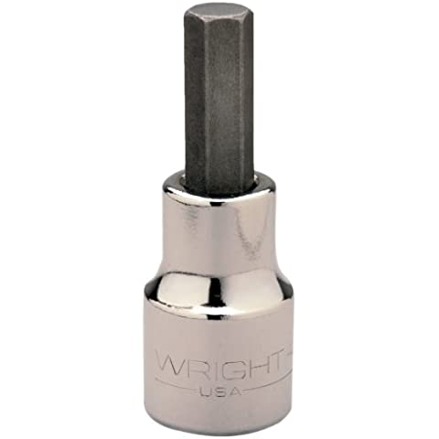 Wright Tool 42M17B 17MM 1/2-Inch Drive Metric Hex Type Replacement Bits