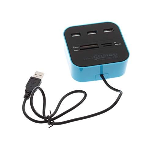 Lector multitarjeta todo uno 3 puertos USB 2.0 Hub