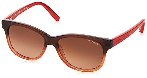 Tommy hilfiger th 1073/s, occhiali da sole unisex adulto, nero (shdbrworncrl), 50