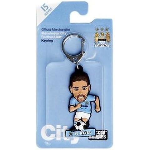 Manchester City con licenza ufficiale calcio soccer Buddies–Portachiavi–Jesús Navas