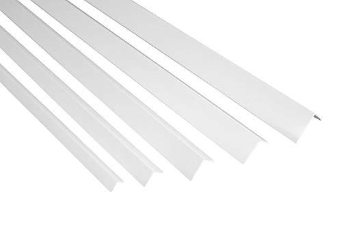 2 Meter | Winkelleiste | PVC | Kunststoff | Effector | 20x20mm | F15