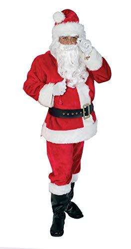 Rubie's 22371 STD - Deluxe Nikolaus-Set, rot (Rubies Weihnachtsmann Kostüm)