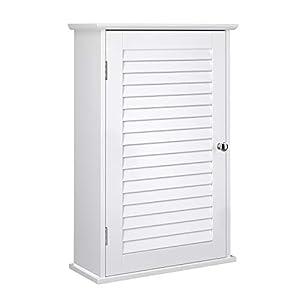 VASAGLE Wandschrank, Badezimmerschrank, Medizinschrank mit höhenverstellbarer Regalebene, Badschrank mit Tür, 40 x 16 x…