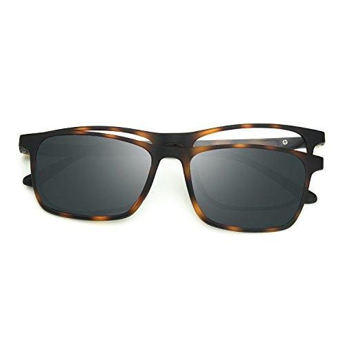 Zenottic 2 in 1 clip magnetica su occhiali da sole per occhiali da vista uomo flessibile ultem montatura tonalit¨¤ polarizzati per occhiali da donna