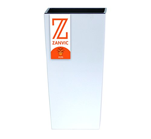 Zanvic Maceta de Plástico Altura 50 cm, Blanco, ZA12
