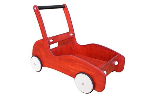 Lauflernwagen mit Bremse Racer rot