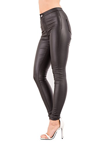 Womens Leather Look Skinny-Fit Trousers Hot Squash New Arrival Buy Cheap Good Selling Fashion Style Rh8XLHhlR