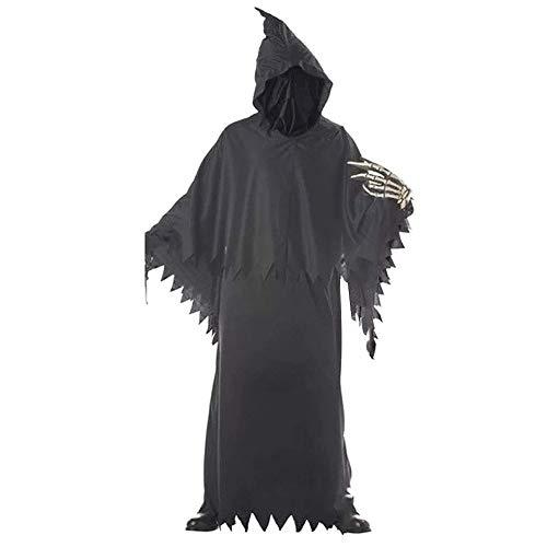 Junge Kinder Scary Kostüm - ZP-Ween Sensenmann Kinder Jungen Halloween Horror Terror Tod Phantasie Kostüm Requisiten Böse Gelangweilt Scary Ghost Devil Skeleton