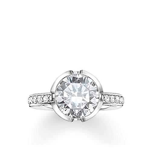 Thomas Sabo Damen-Ring 925 Silber Zirkonia weiß Gr. 54 (17.2) - TR2037-051-14-54