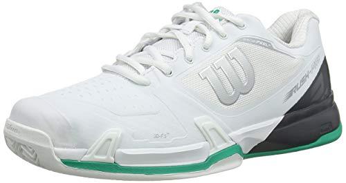 Wilson Rush PRO 2.5 2019 CC, Scarpe da Tennis Uomo, Bianco (White/Ebony/Deep Green), 41 EU