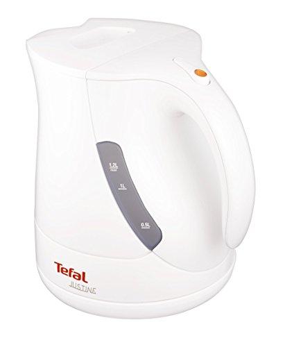Tefal Justine - Hervidor, 2200 W, 1.2 litros, desconexión al hervir el agua, visor indicador del agua, filtro antipurezas, color blanco