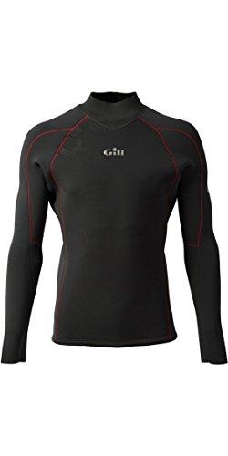 Gill Race Firecell - Langärmliges Neopren-Oberteil aus Graphitgrau - Easy Stretch-Thermofutter. Wasserdicht - 3,5 mm Neopren Quick Dry -