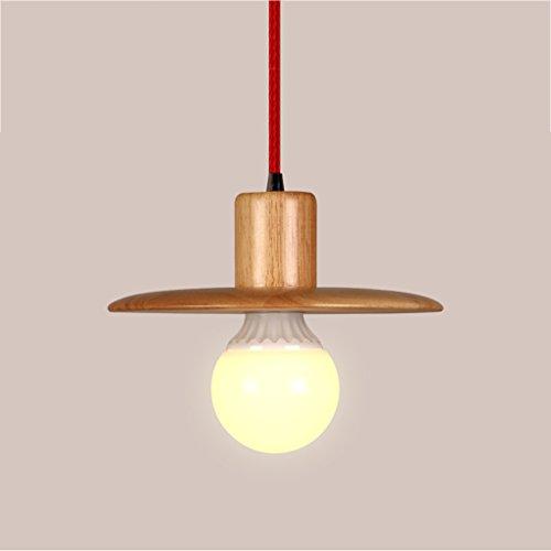 $illuminazione lampade a sospensione in legno massello rotondo lampadari minimalisti creativo camera da letto ristorante studio balcone bar cafe lampada luci interne ( dimensioni : 21cm )