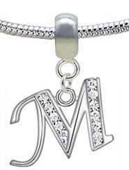 Ciondolo in argento per gioielli Pandora, regalo di Natale ideale - acquistando 2 ciondoli con lettere dell'alfabeto ne riceverete 1 gratis 'Dreamcatcher'