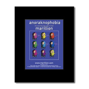 MARILLION - Anoraknophobia Matted Mini Poster - 21x13.5cm
