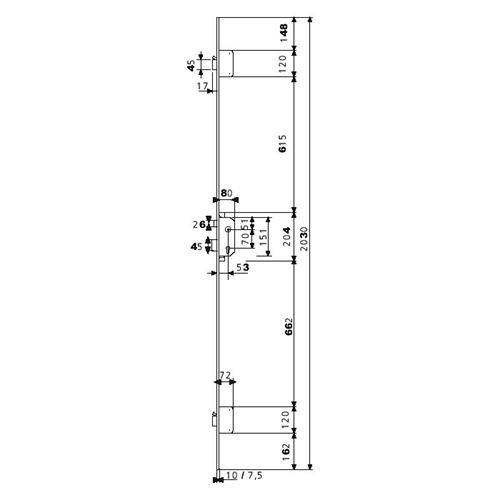 Azbe–Einsteckschloss Sicherheit tlpn3/66/CE