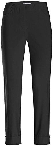 Stehmann IGOR-680 14060-900, sportive Damenhose mit aufgesetzten Taschen und Aufschlag, 6/8 Länge, Größe 34, Farbe Schwarz