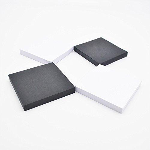 Haftnotizen, Haftnotizen 3 x 3.100 Blatt/Block einzeln 04-bright/White (3in Bindemittel)