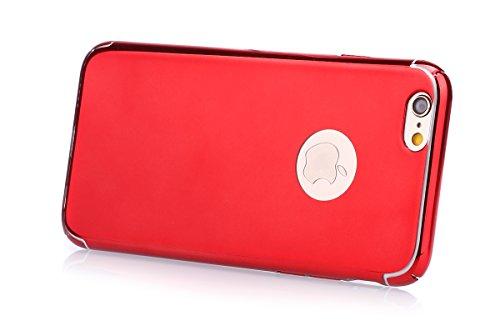 Coque iPhone 6,Coque iPhone 6S,Étui iPhone 6S,Étui iPhone 6,ikasus® iPhone 6S / 6 Housse Coque Miroirs TPU silicone miroir Étui / TPU miroir Étui Housse Silicone Étui Téléphone Couverture TPU avec bri rouge