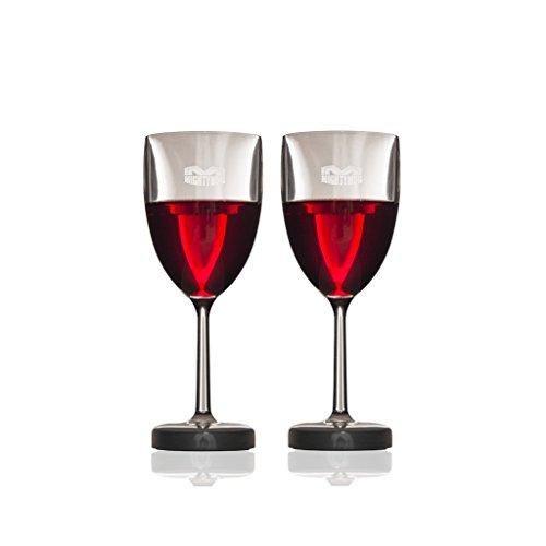 Verre à vin Mighty Mug - Lot de 2 - Plastique Tritan avec technologie Smartgrip