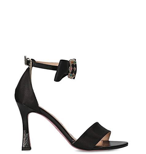 tipe e tacchi women's 4317nnero black fabric sandals