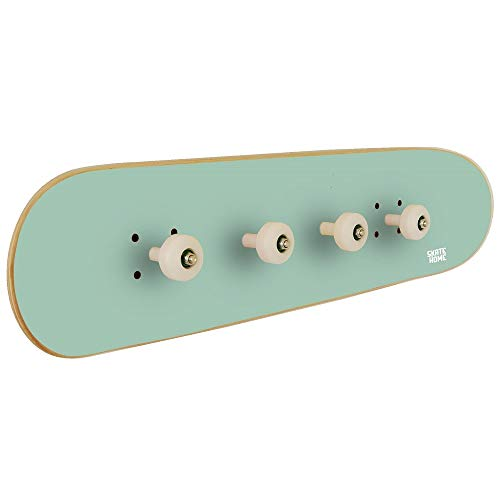 Perchero habitación Juvenil Tabla Skate, Verde Menta