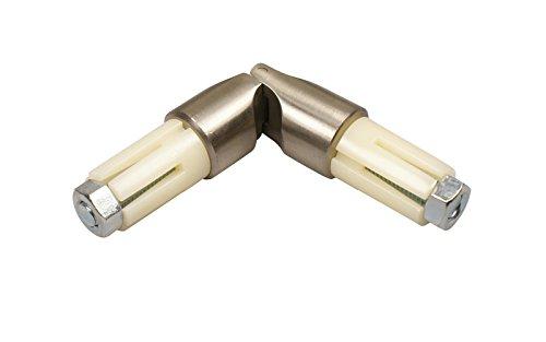 Edelstahl Gelenkverbinder für 16 mm Ø Gardinenstangen