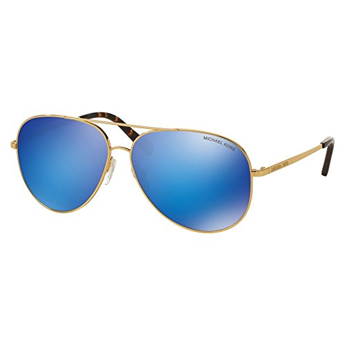 Michael kors - kendall i mk 5016, aviator, metallo, uomo, gold/blue mirror(1024/25), 60/12/135