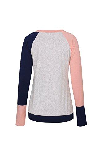 Pulls Haut Avec Poche Femme Freestyle Printemps Shirt Tee xS0wESgqf