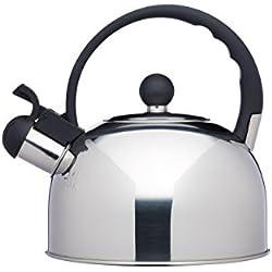 Kitchencraft Le 'Xpress–Hervidor de agua con silbido, apto para inducción, hornillo, 1,4litros–acero inoxidable