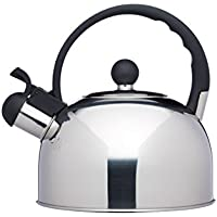 KitchenCraft Le'Xpress Induction-Safe Whistling Stovetop Kettle, 1.4 Litres - Stainless Steel