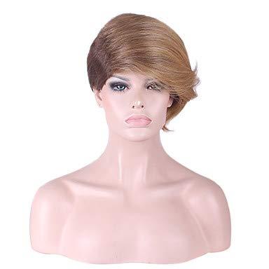 FUHOAHDD die Neue 2016 gigh-Grade-Perücke in Europa und Amerika weibliche Haarknall DREI Anti Haarperücken geneigt, Blonde