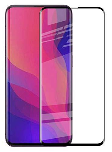 Vicstar Oppo Find X Panzerglas Bildschirmschutzfolie, Vollständige Abdeckung Schutzfolie Gehärtetem Glass 9H Härte Anti-Kratzen Anti-Öl Anti-Bläschen Schwarz Kompatibel Schutzfolie für Oppo Find X
