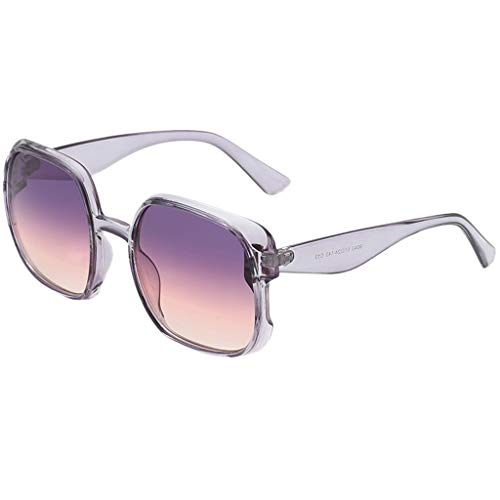 fazry Damen Herren Mode unregelmäßige Form Sonnenbrille Vintage Style Brille(F)